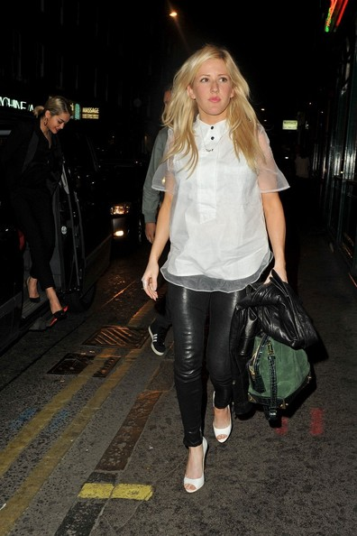 Ellie Goulding Leather Pants