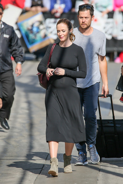 Emily Blunt Flat Boots