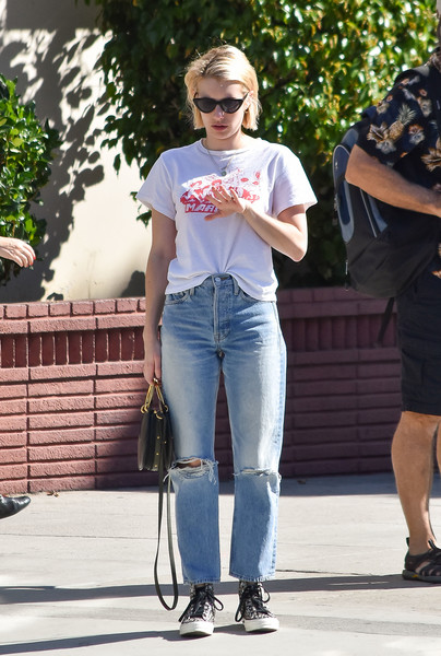 More Pics of Emma Roberts Canvas Sneakers (5 of 15) - Canvas Sneakers Lookbook - StyleBistro