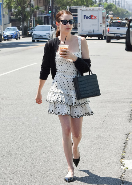 More Pics of Emma Roberts Embroidered Dress (1 of 6) - Dresses & Skirts Lookbook - StyleBistro []