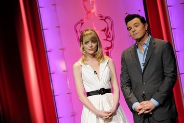 Emma Stone Seth MacFarlane 85th Oscar Nominations