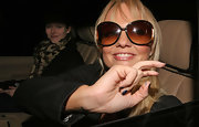 Emma Bunton looks celebrity fab in these oversized sunglasses.