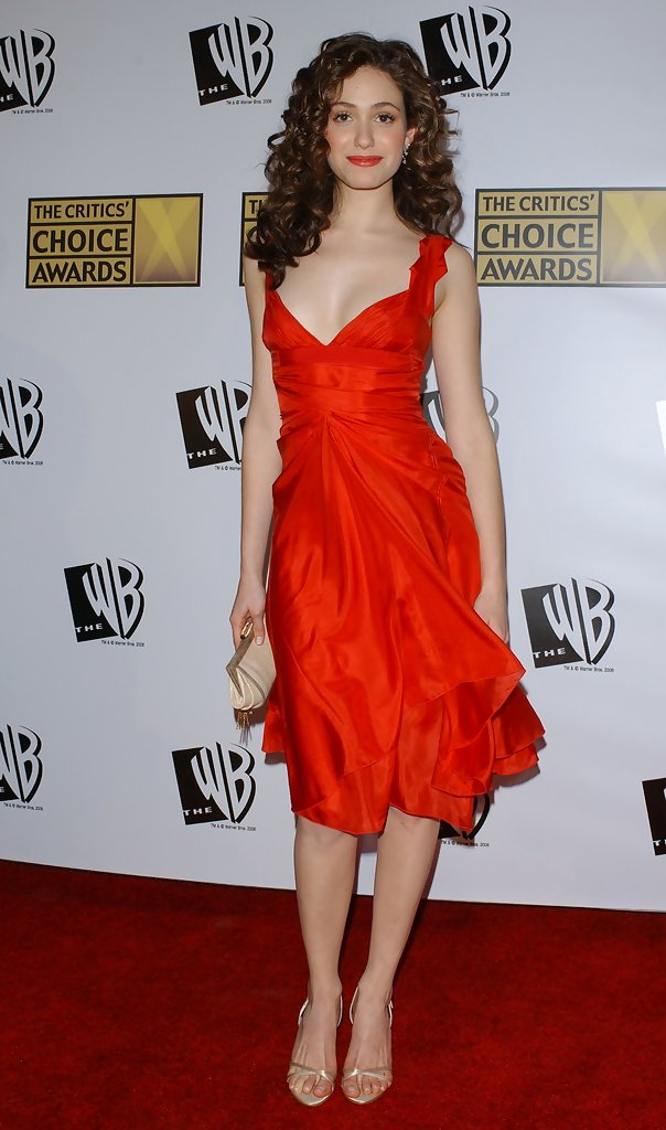 Emmy Rossum's Feminine Red Carpet