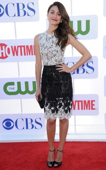 Emmy Rossum Peep Toe Pumps