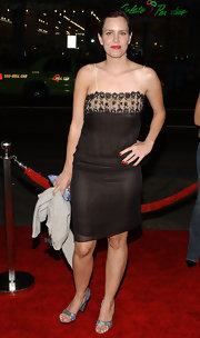 Bright red lips and nails vamped up Ione Skye's delicate slip dress at a movie premiere in LA.