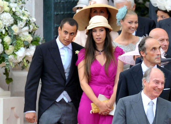 Tatiana Santo Domingo's hat finished off her look with a formal touch.