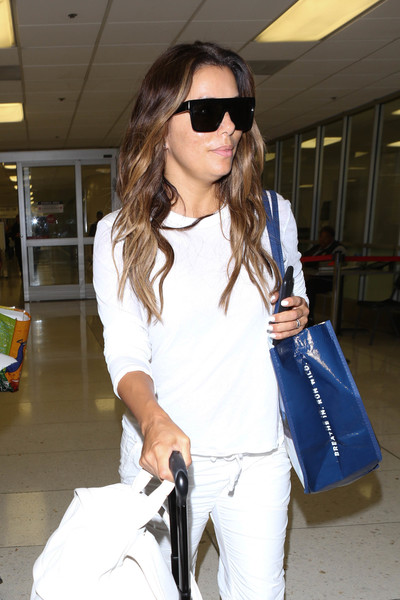 Eva Longoria Designer Shield Sunglasses