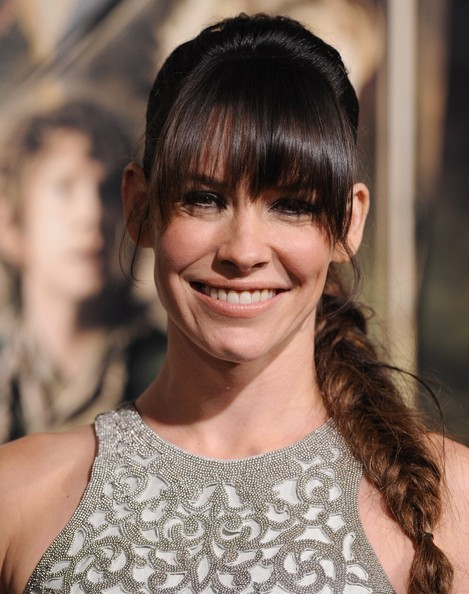 Evangeline Lilly Long Braided Hairstyle