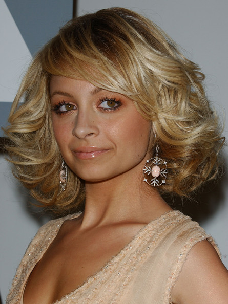 More Pics of Nicole Richie Curled Out Bob (1 of 3) - Short Hairstyles Lookbook - StyleBistro []