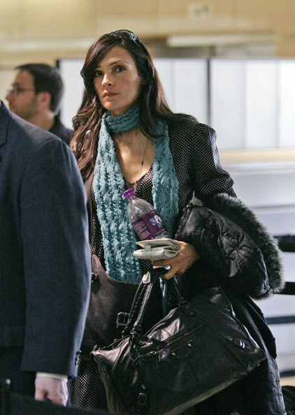 Famke Janssen Leather Tote