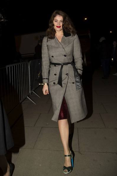 More Pics of Gemma Arterton Trenchcoat (2 of 3) - Gemma Arterton Lookbook - StyleBistro