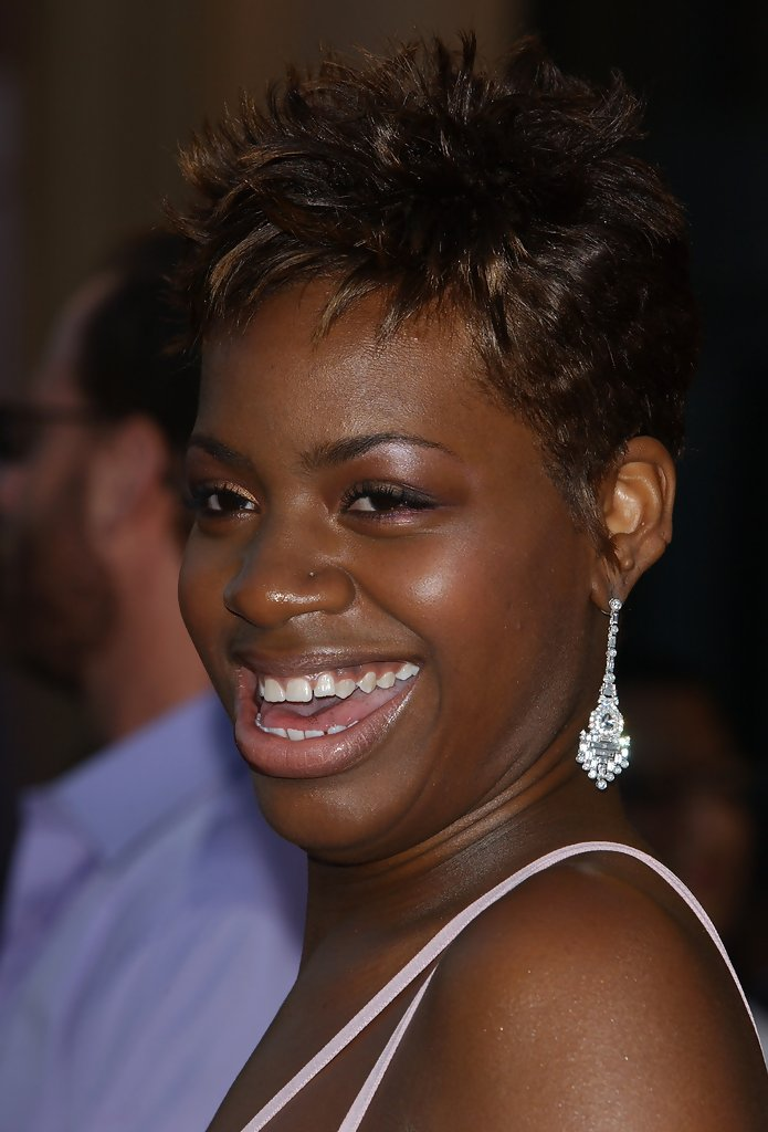 Fantasia Barrino Dangling Diamond Earrings Fantasia
