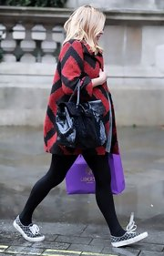 Fearne Cotton kept it casual in a pair of printed canvas sneakers.