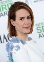 Sarah Paulson attended the Film Independent Spirit Awards wearing her hair in a simple bob.