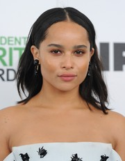 Zoe Kravitz opted for an edgy center-parted, layered 'do when she attended the Film Independent Spirit Awards.