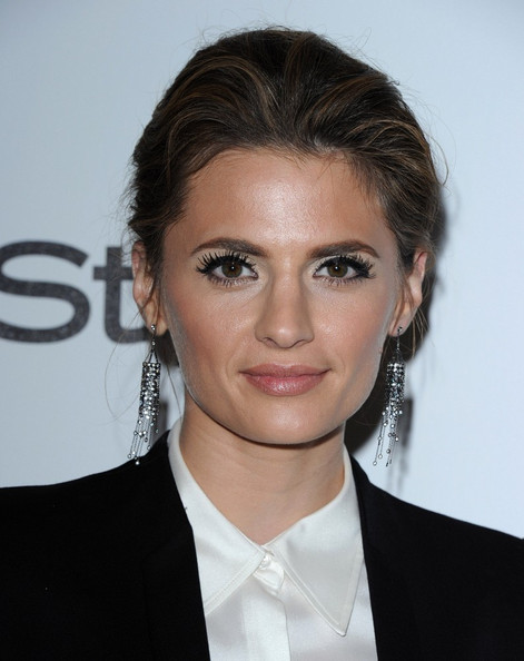 More Pics of Stana Katic Tuxedo (1 of 4) - Tuxedo Lookbook - StyleBistro