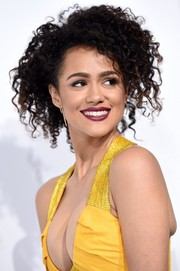 Nathalie Emmanuel sported mussed-up curls at the world premiere of 'Furious 7.'