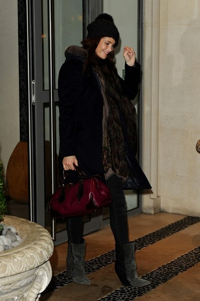 More Pics of Gemma Arterton Pompom Beanie (3 of 7) - Gemma Arterton Lookbook - StyleBistro