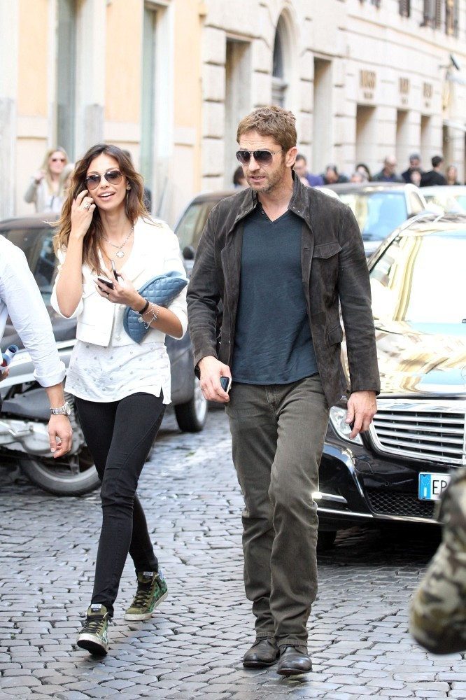More Pics of Gerard Butler Fitted Jacket (1 of 75 ...