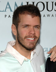Perez Hilton attempted a fauxhawk for the Glamhouse.com party launch.