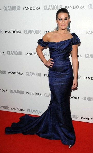 Lea Michele in Zac Posen