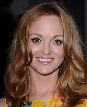 Jayma Mays perfected her pout with a glossy frosty mauve lipcolor.
