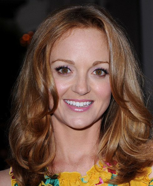 More Pics of Jayma Mays Medium Wavy Cut (1 of 7) - Shoulder Length Hairstyles Lookbook - StyleBistro