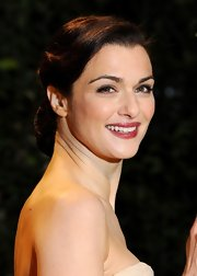 Rachel Weisz's red lips at the 'Oz' London premiere simply popped against her soft, fair skin.