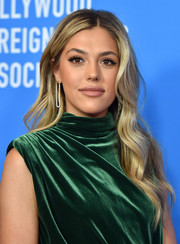 Sistine Stallone looked gorgeous with her long wavy 'do at the 2019 HFPA Grants Banquet.
