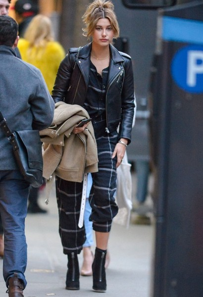 Hailey Bieber Jumpsuit [street fashion,clothing,fashion,footwear,hairstyle,snapshot,outerwear,coat,denim,jeans,hailey baldwin,bella hadid,ralph lauren,cody simpson,photo shoot,fashion,entertainment,model,celebrity,new york city,hailey rhode bieber,entertainment,model,celebrity,new york,socialite,fashion,jeans,roller coaster,death]