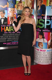 Michelle Pfeiffer looked hot at the 'Hairspray' premiere in a tight black strapless dress.