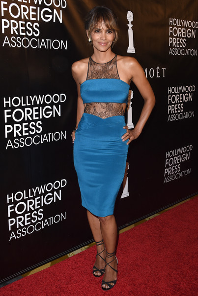 Halle Berry Cutout Dress