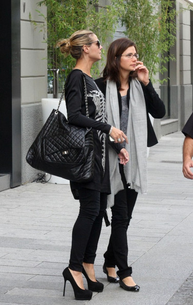 Heidi Klum Quilted Leather Bag