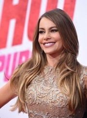 Sofia Vergara wore her long hair loose with a side part during the premiere of 'Hot Pursuit.'
