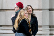 Elizabeth Hurley and Blake Lively film scenes for 'Gossip Girl' on location in Manhattan.