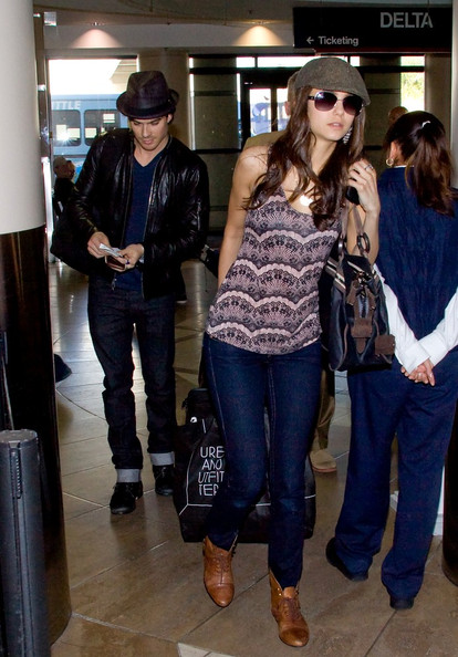 More Pics of Nina Dobrev Newsboy Cap (1 of 6) - Newsboy Cap Lookbook - StyleBistro