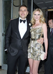 Lara Stone weds in style in a one of a kind dress by Ricardo Tisci, which was costume made for the model.