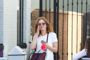 Isla Fisher Leather Shoulder Bag