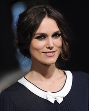 Keira Knightley went for a vintage-chic look with this center-parted loose updo when she attended the 'Jack Ryan: Shadow Recruit' LA premiere.