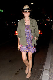 Diane Kruger looked summery in a pair of nude ballet flats.