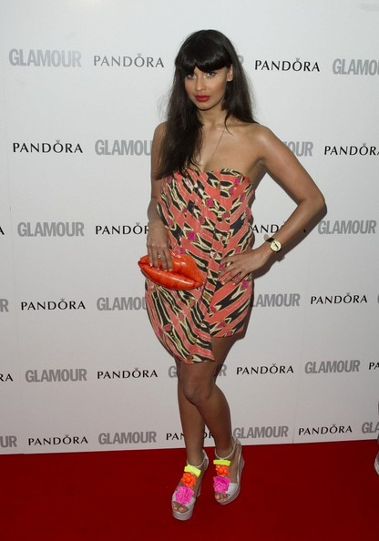Jameela Jamil Leather Clutch