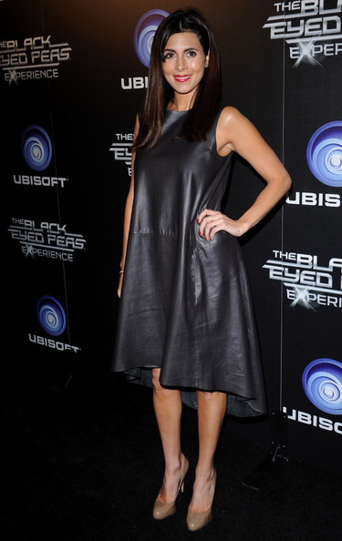 Jamie-Lynn Sigler Leather Dress