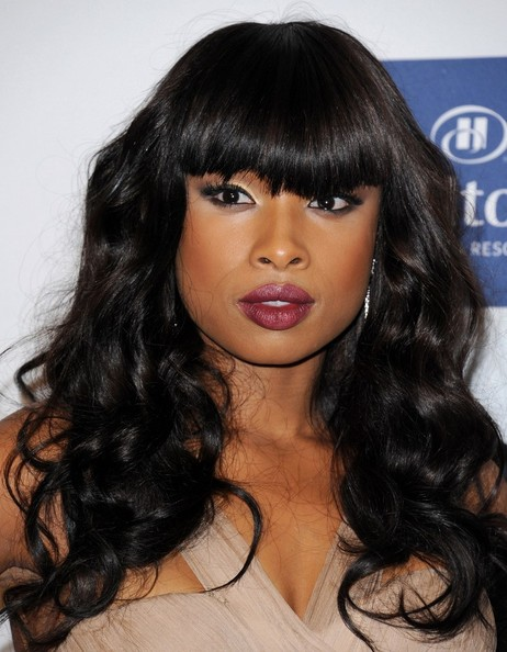 Jennifer Hudson Long Curls with Bangs