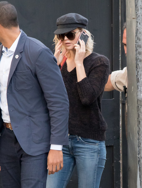 Jennifer Lawrence Newsboy Cap
