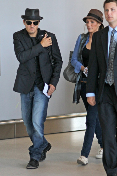 Jeremy Renner and Blake Lively at Pearson International Airport to ...