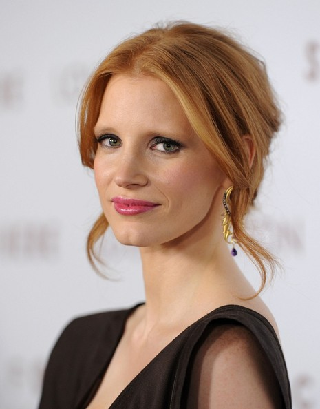 Jessica Chastain Loose Bun
