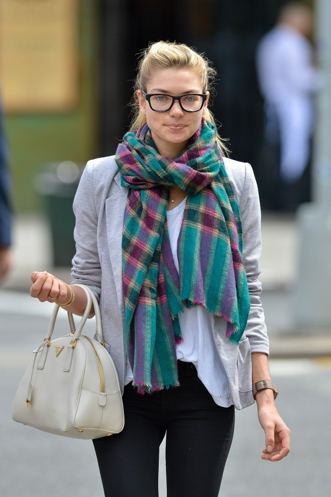 Jessica+Hart in Jessica Hart Models Her Glasses in NYC