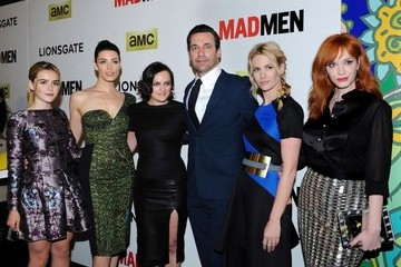 Jon Hamm Elisabeth Moss 'Mad Men' Season 7 Premiere in Hollywood