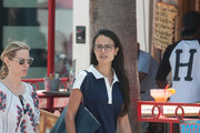 Jordana Brewster Leather Shoulder Bag