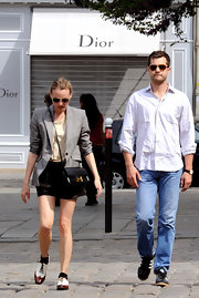 "Diane Kruger had a romantic get away with boyfriend Joshua Jackson. She donned a cool leather ""Constance"" cross body bag."